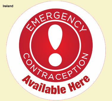 Window sticker, Emergency Contraception Campaign, HSE Crisis Pregnancy Programme and Irish Pharmacy Union, 2012