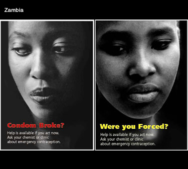 Brochures produced by the Population Council/ECafrique, the Zambian Police, and the Central Board of Health of Zambia